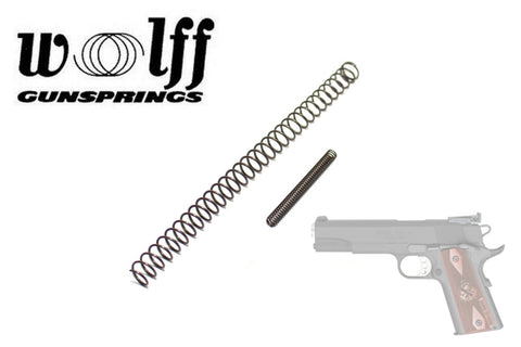 Wolff Gunsprings Colt 1911 Recoil Spring w/ Firing Pin Spring, Chrome Silicone