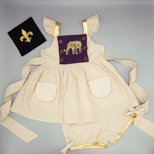 LSU + Saints Football Panel Dress