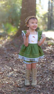 Autumn Green Tunic Set