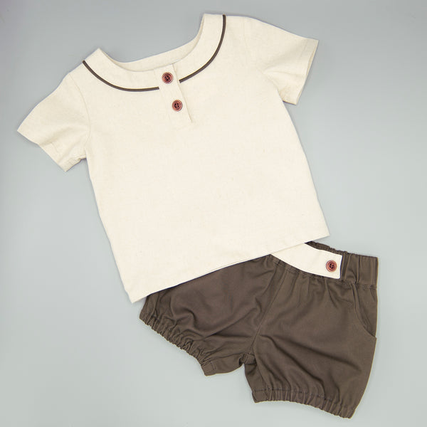 Boys Fall Leaves Two Piece Set