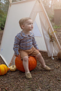 Boys Harvest Plaid Two Piece Set
