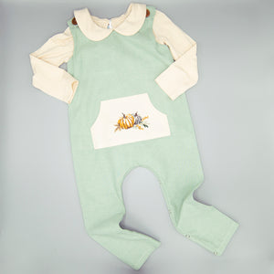 Boys Grateful Thankful Blessed Romper