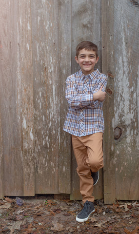 Boys Harvest Plaid Shirt
