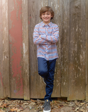 Boys Swedish Plaid Shirt