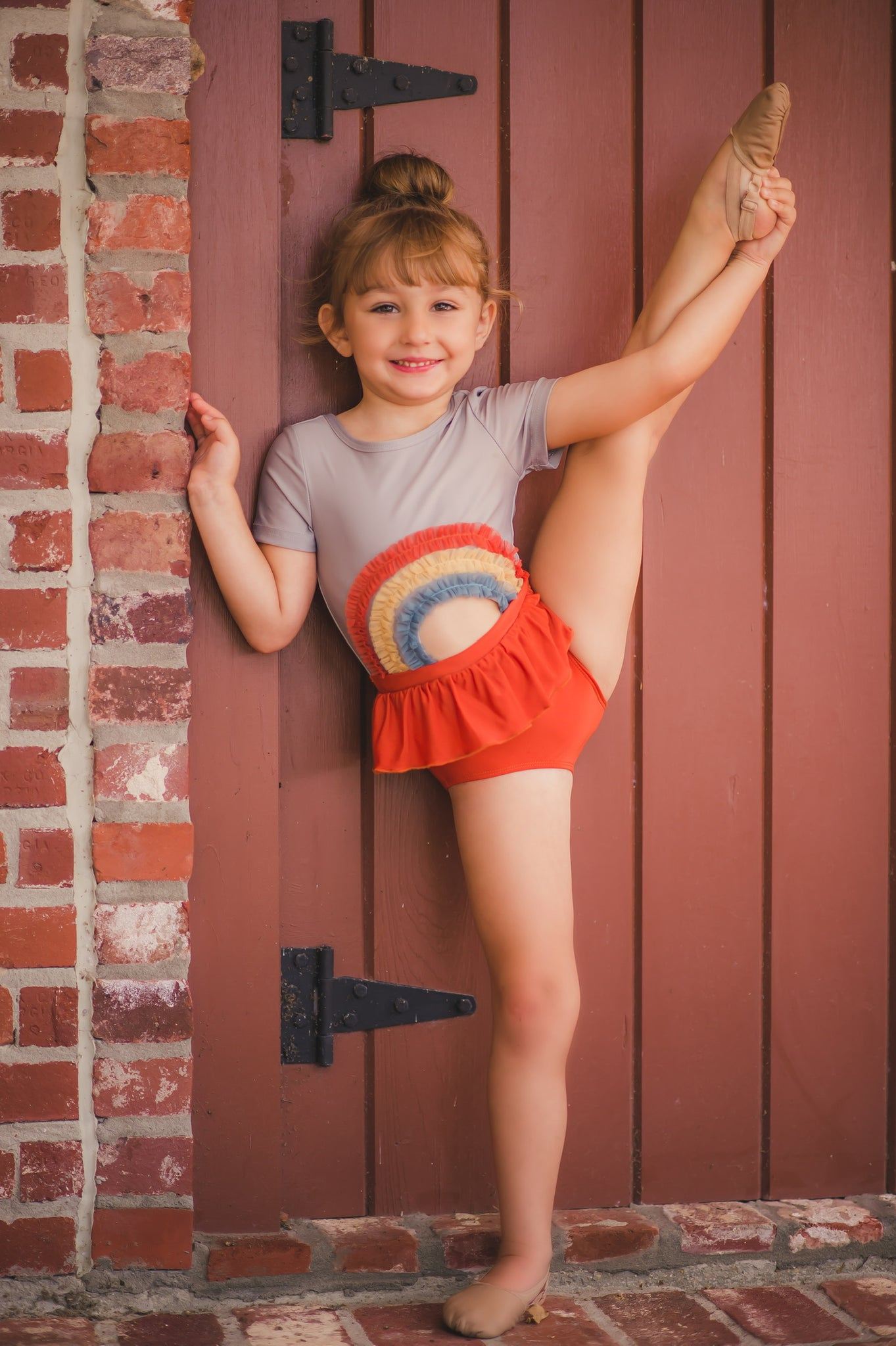 Fall Rainbow Ruffle Leotard