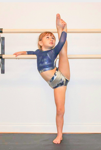 Perfectly Platinum & Navy Three Piece Leotard Set
