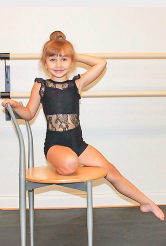 Lovely Lace Leotard in Black