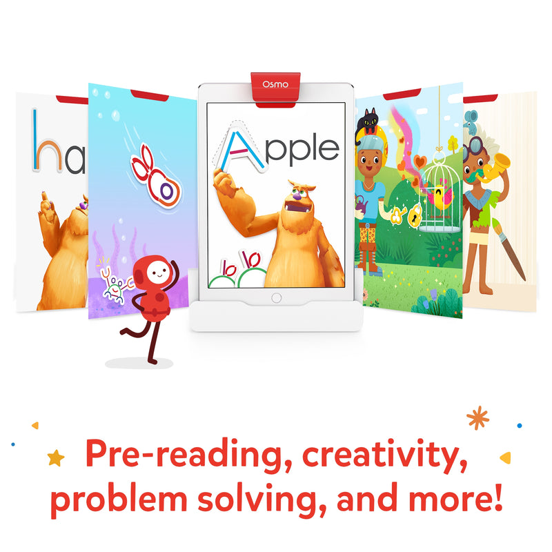 Osmo Little Genius Starter Kit for iPad for Ages 3-5 (Osmo Base included)