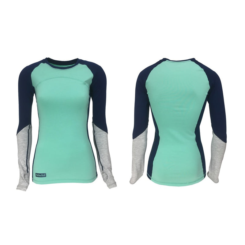 Thermatech Womens Ultra Long Sleeve (Mint/Ink/Marl)