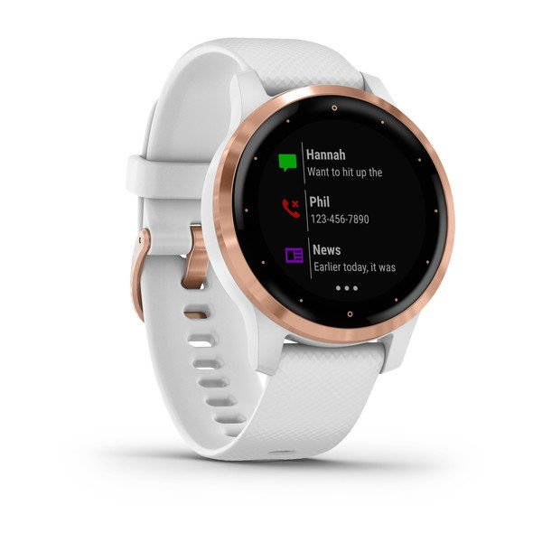 GARMIN vívoactive® 4S, White with Rose-gold Hardware