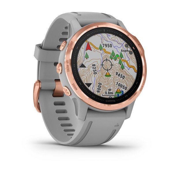GARMIN fēnix® 6S Sapphire, Rose Gold-tone with Powder Gray Band