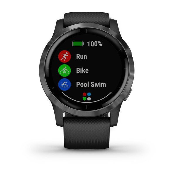 GARMIN vívoactive® 4, Black with Slate Hardware
