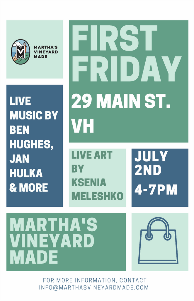 First Friday July 2 promo flyer
