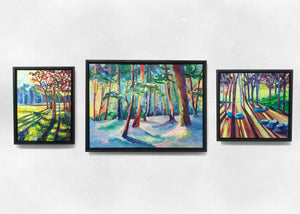 Wilderness Trio Oil on Canvas Paintings