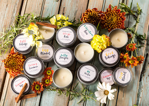 Scented Soy Candles in Tin