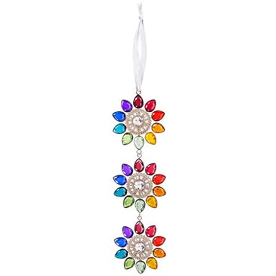 Sun Catcher - Triple Rainbow Flower