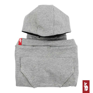 Light gray hoodie with raglan sleeves | Clothing for Rex and Sphynx cats