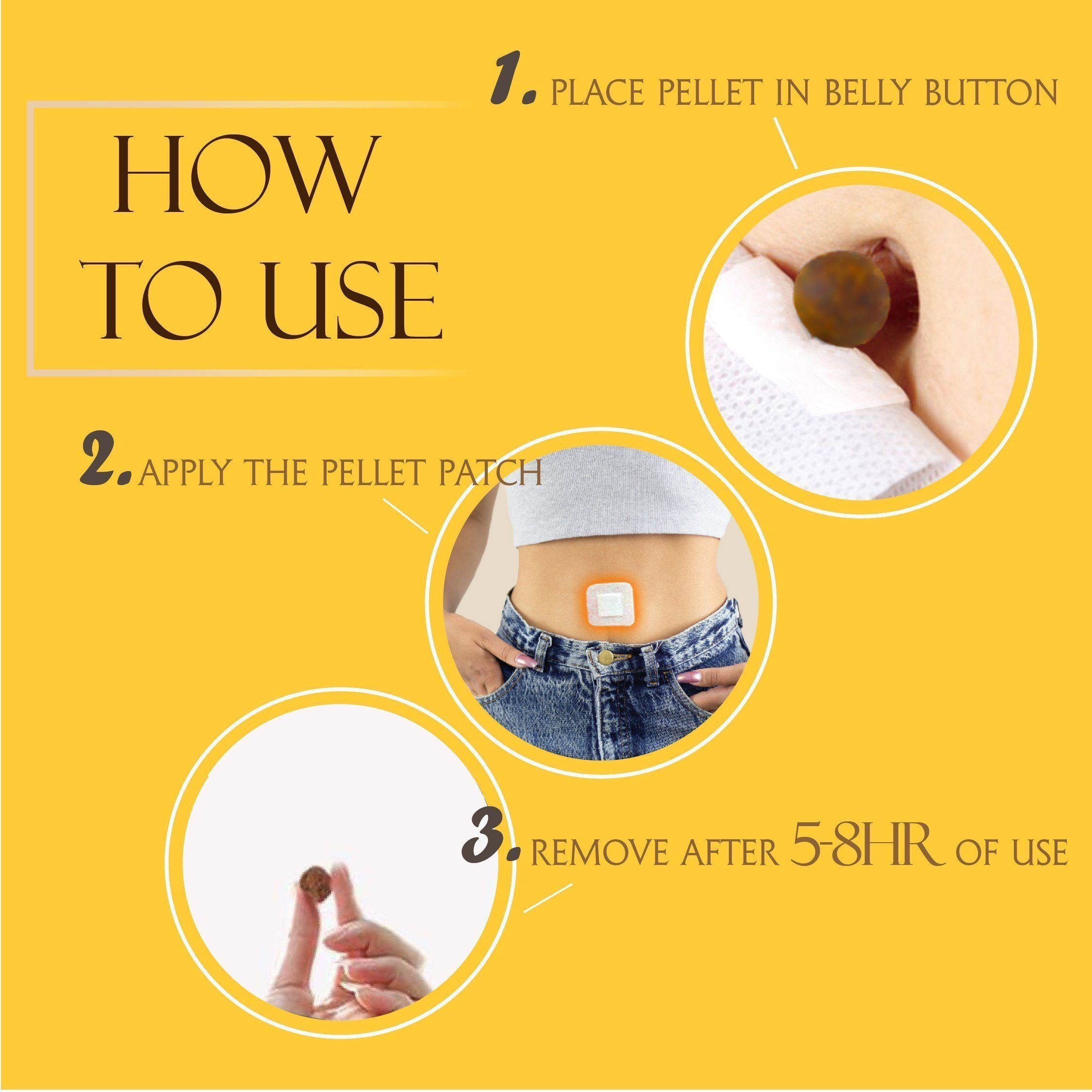 Traditional Herbal Slimming Belly Pellet (Patch Included) - Dechappy
