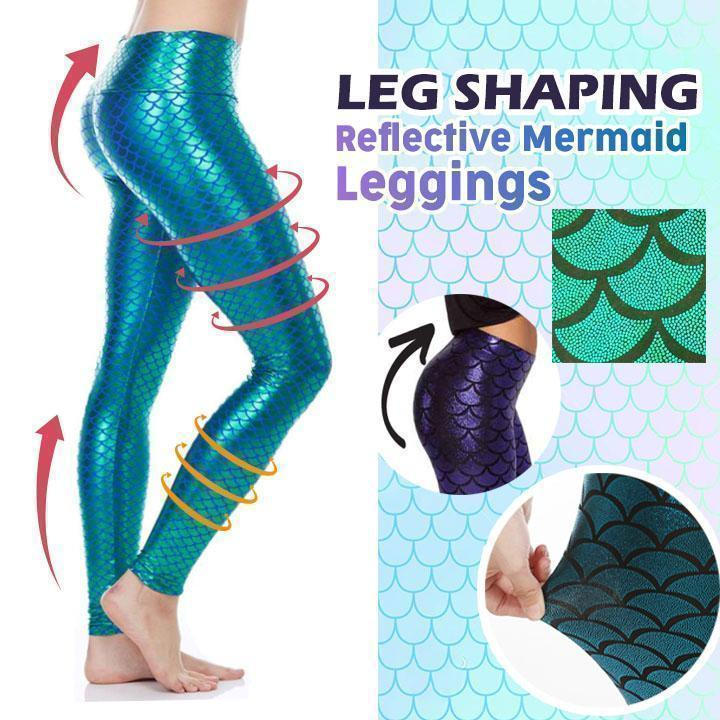 Leg Shaping Reflective Mermaid Leggings - Dechappy