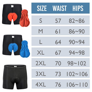 3D Silicone Padded Cycling Pants