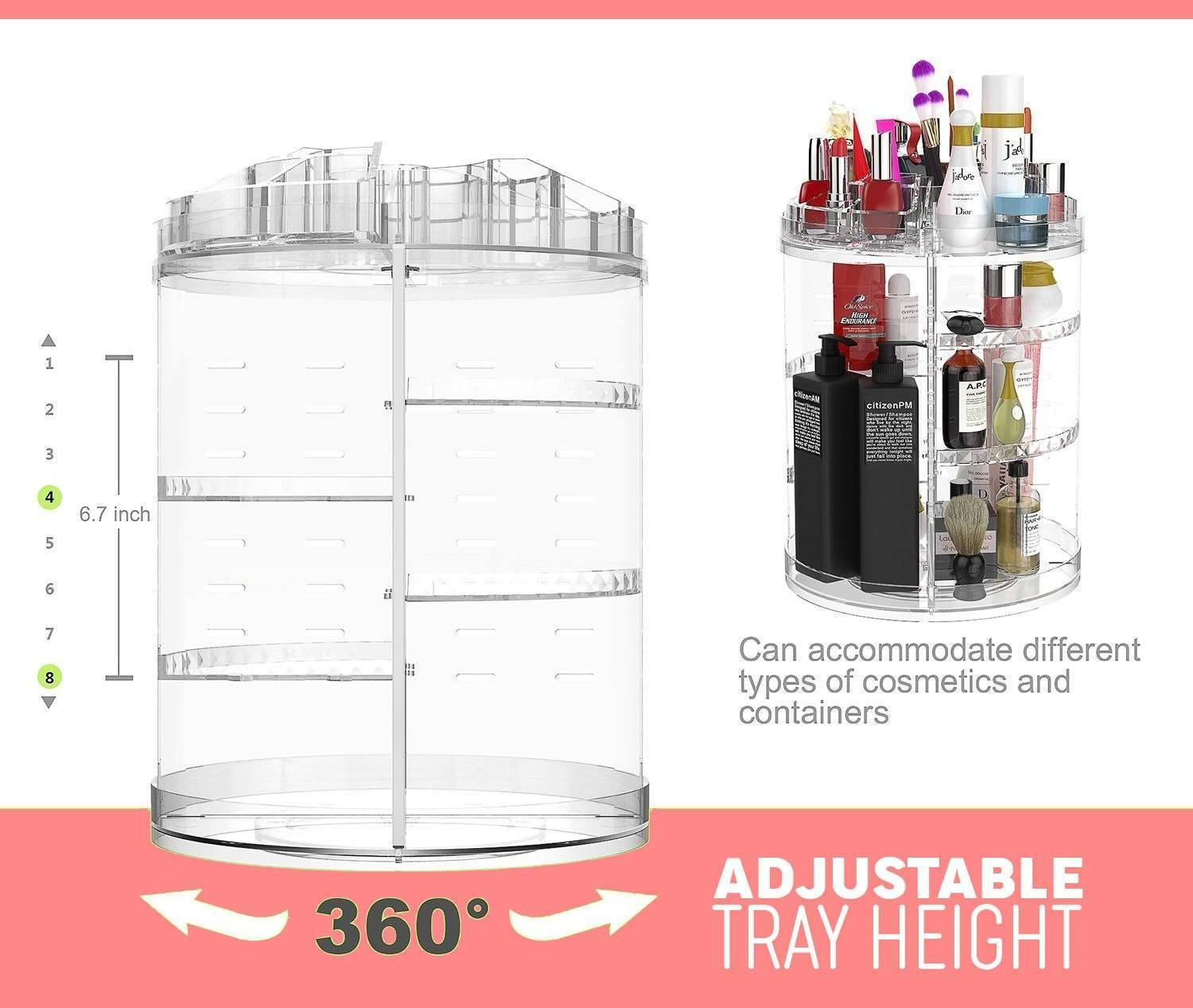 360° Rotatable Makeup Organizer - Dechappy