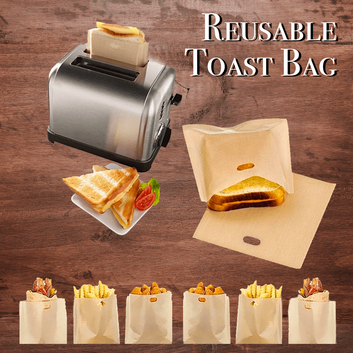 Reusable Perfect Toaster Bag - Dechappy
