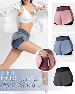 2-in-1 Inner-Pocketed Active Shorts - Dechappy