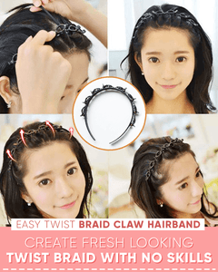 Easy Twist Braid Claw Hairband