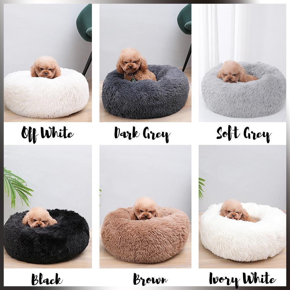 Round Fluffy Soft Dog Bed - Dechappy