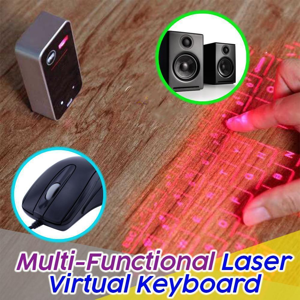 Multi-Functional Laser Virtual Keyboard - Dechappy