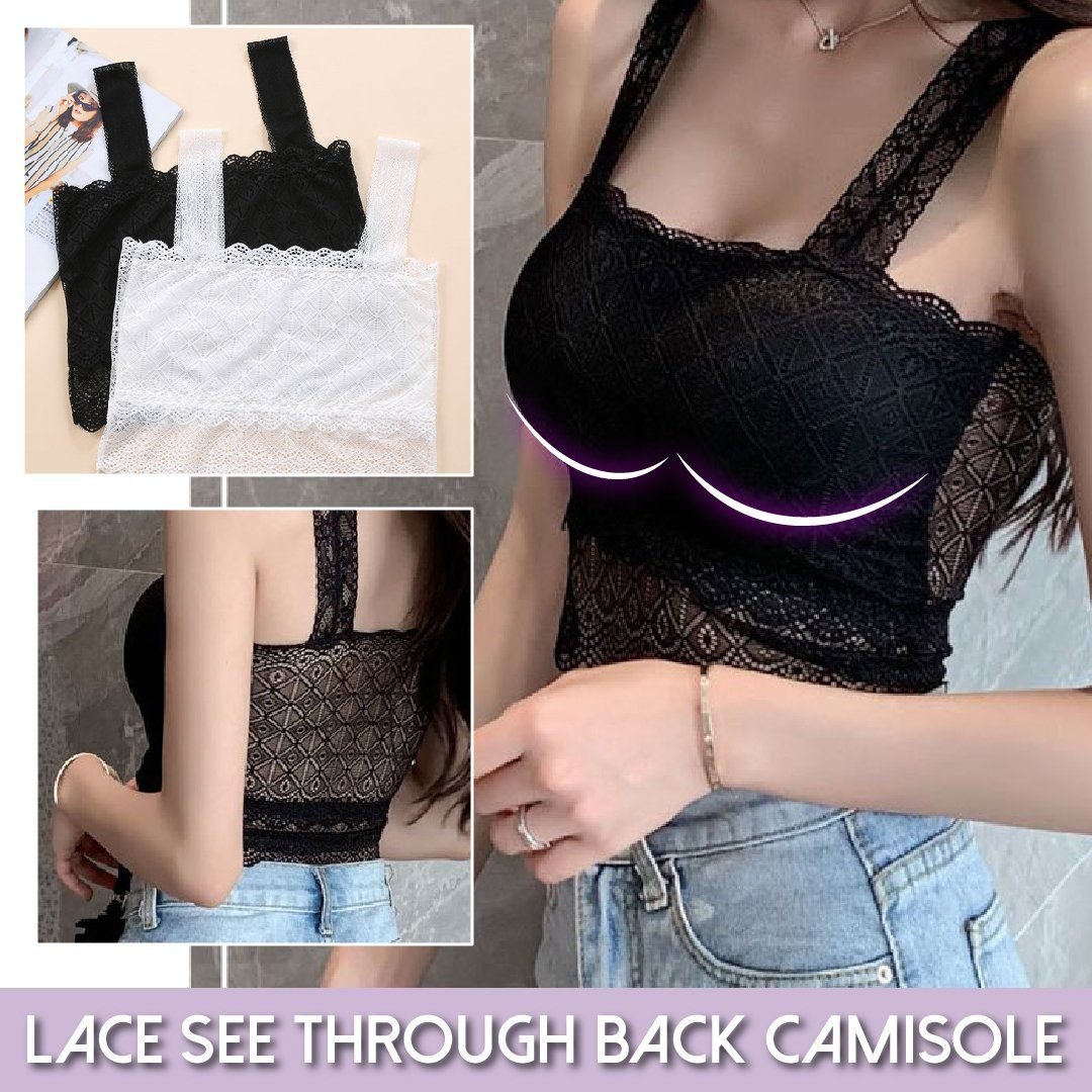 Lace See Through Back Camisole