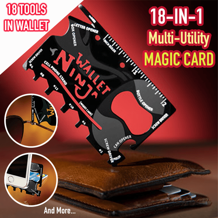 18-in-1 Multi-Utility Magic Card - Dechappy