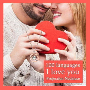 I love you Projection Necklace In 100 Languages - Dechappy