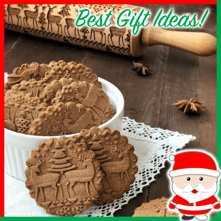 Easy-Bake Christmas Rolling Pin - Dechappy