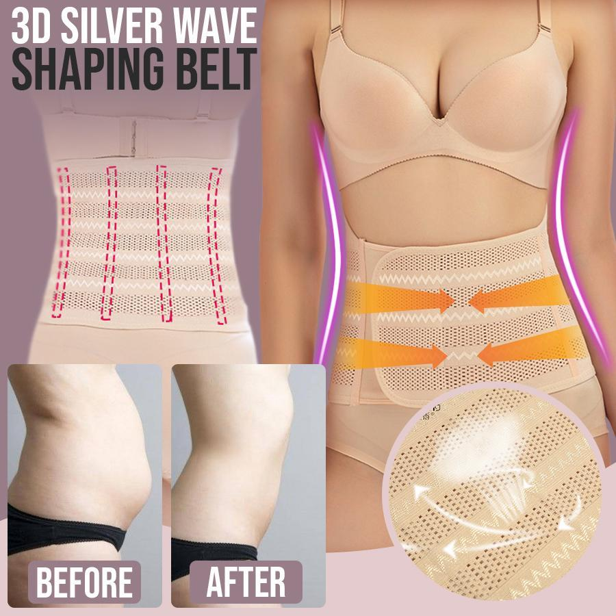 3D Silver Wave Shaping Belt