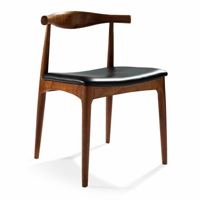 Elbow chair, Hans Wegner/ Dark brown - MANU Wooden Collection
