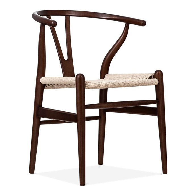 Hans Wegner, Wishbone chair / Dark brown wood - MANU Wooden Collection