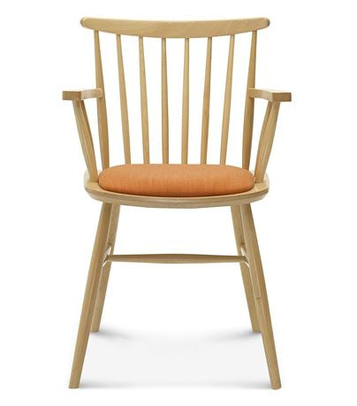 Scandinavian armchair, beech wood