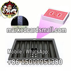 350 chip tray barcode marked cards scanning camera