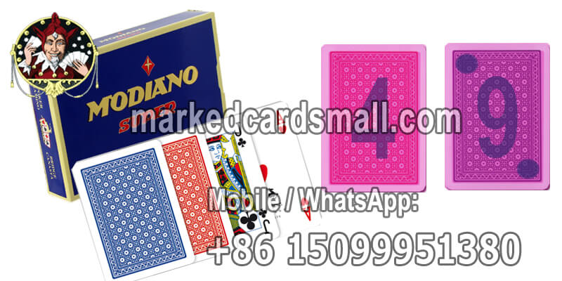 Modiano Super Fiori marked playing cards