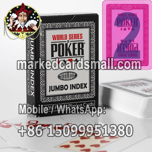 Modiano WSOP Infrared Ink Playing Cards for Cheat Poker Contact Lenses