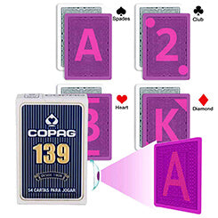 Copag 139 for luminous marked cards contact lenses and glasses