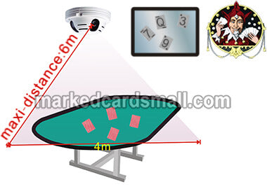 Infrared camera marked poker cards