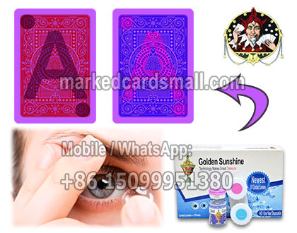 cheating marked cards contact lenses for Blackjack