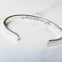 """My Story Isn't Over Yet""- Semicolon Cuff Bracelet"