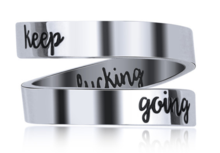 """KEEP GOING"" WRAP RING"