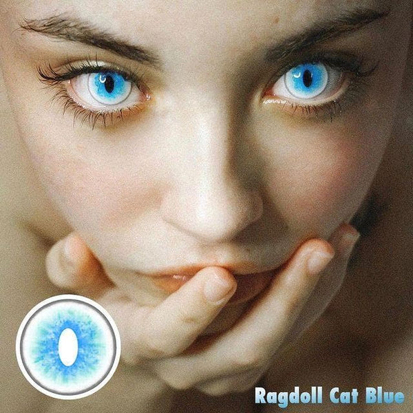 Ragdoll Cat Blue Colored Contact Cosplay Lenses