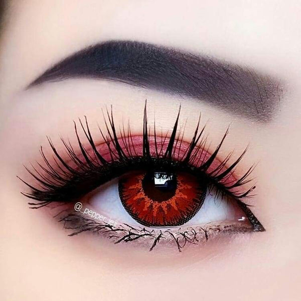 Vika Tricolor Red Colored Contact Lenses
