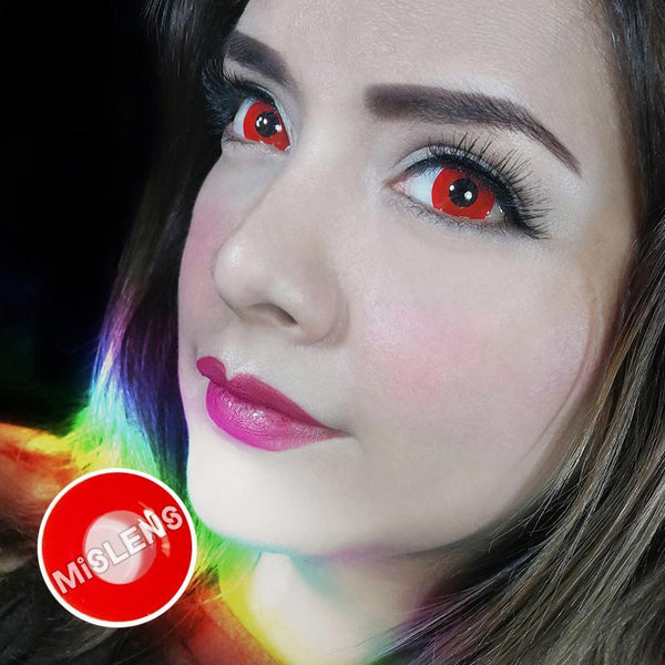 Vampire Block Red Mimi Sclera Cosplay Colored Contact Lenses