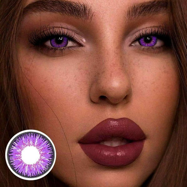 Mystery Purple Colored Contact Lenses